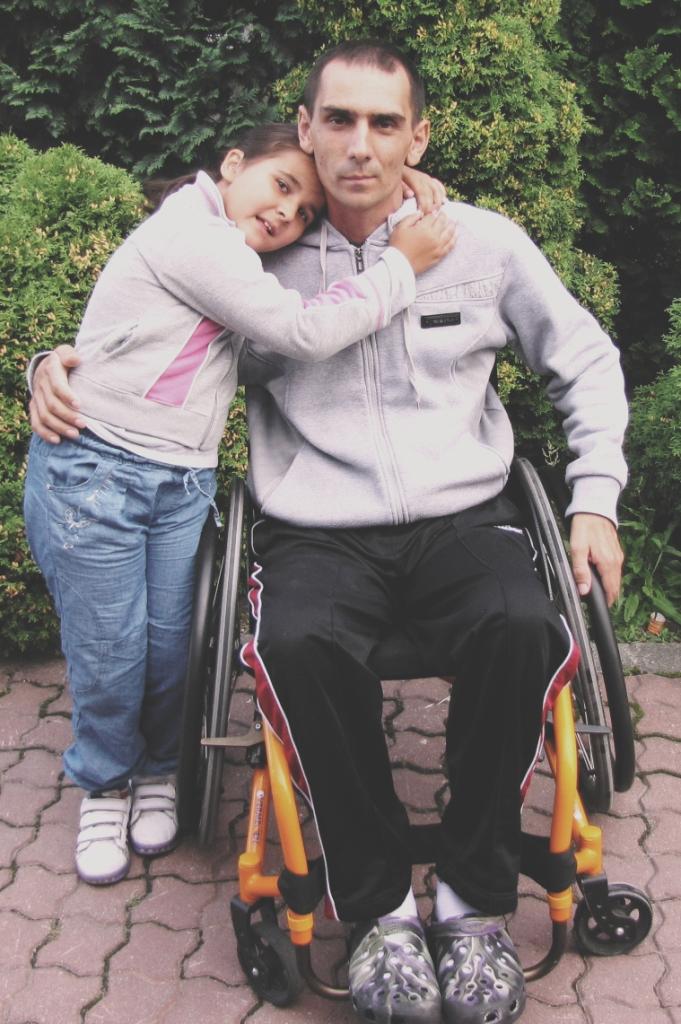 Zdjęcie Macieja z córką Mają