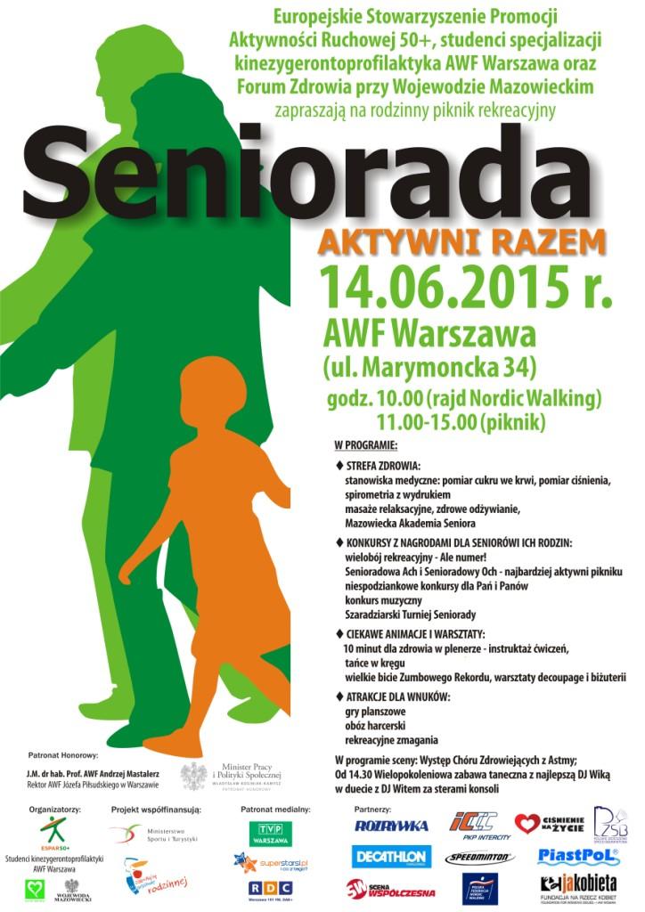 Plakat Seniorada Aktywni Razem
